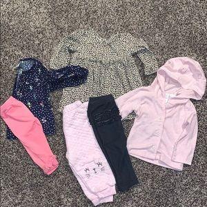 Baby Girls 9Months Long Sleeve/Pants Bundle